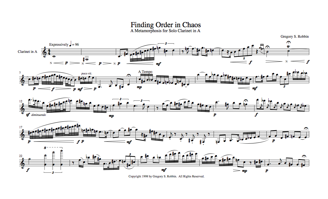 Finding Order in Chaos Score