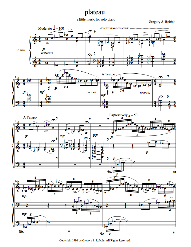 Plateau Score